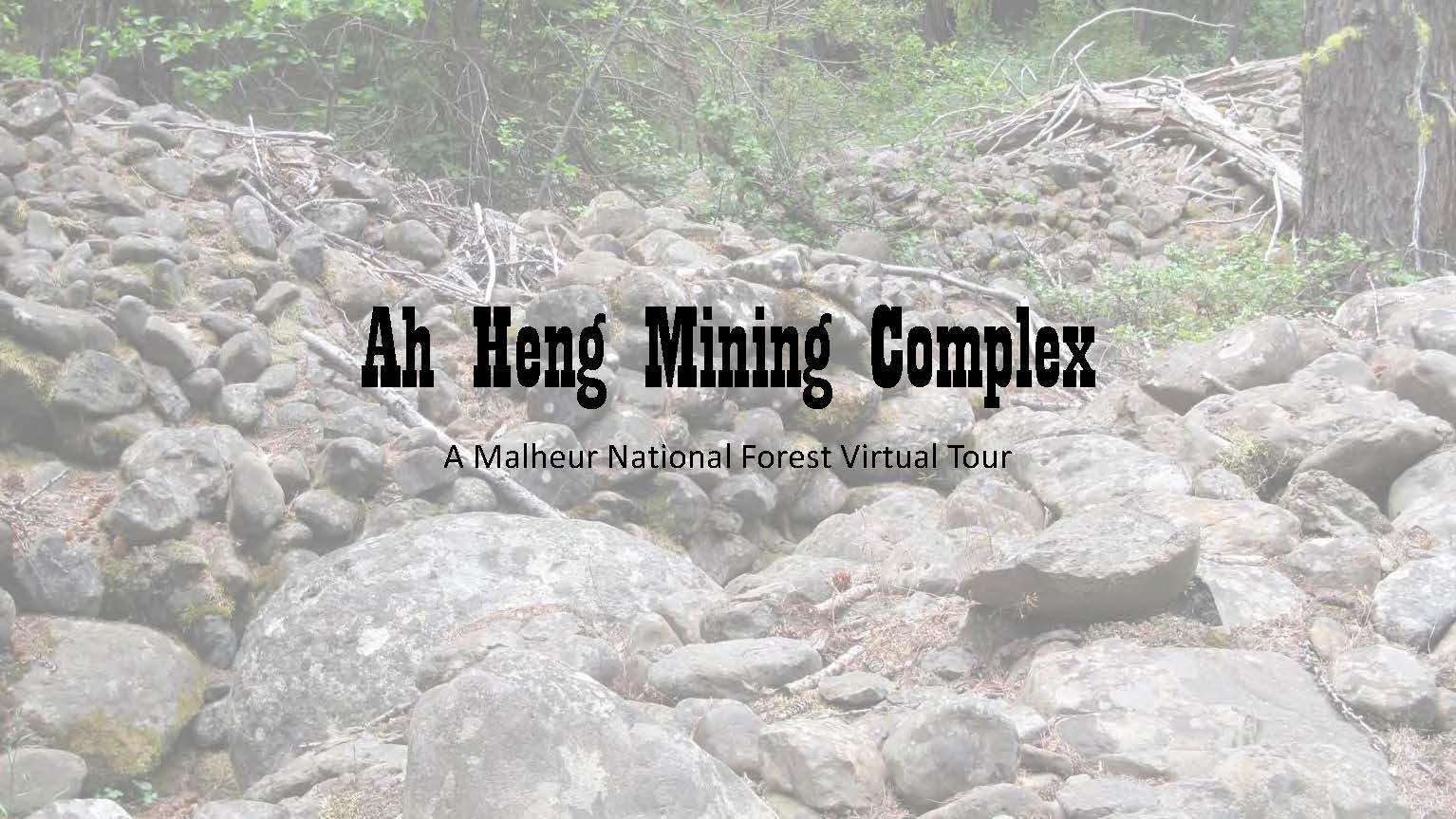 Ah Heng Mining Complex A Malheur National Forest Virtual Tour