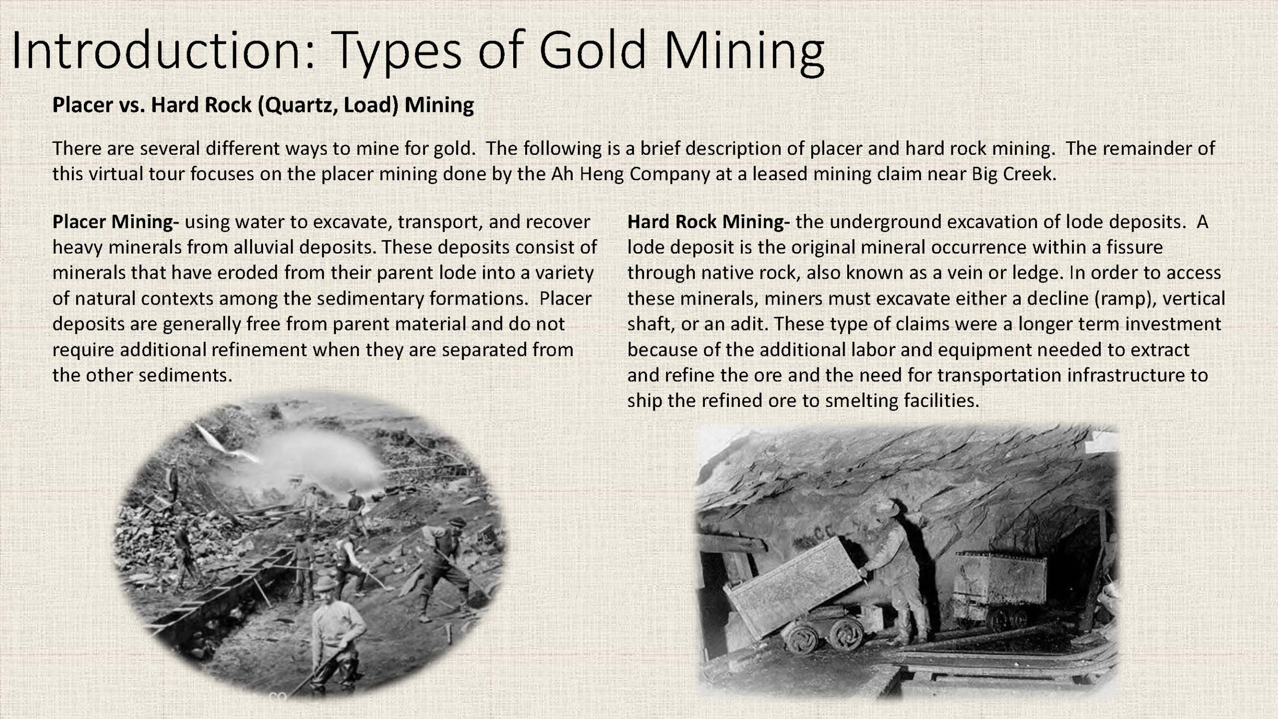 Introduction: Types of Gold Mining
