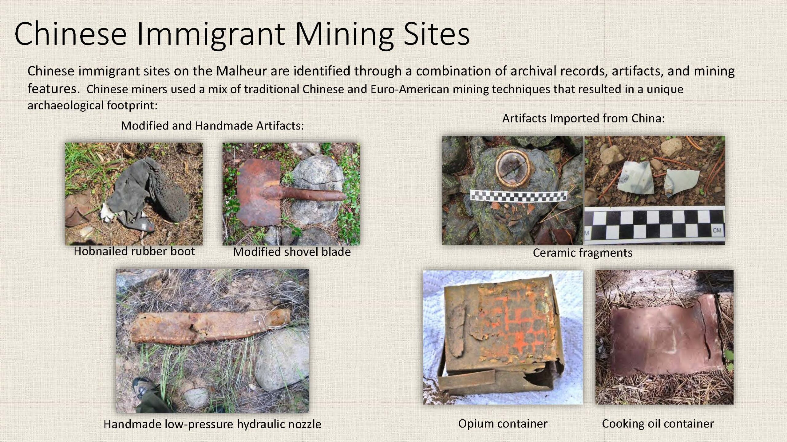 Chinese Immigrant Mining Sites