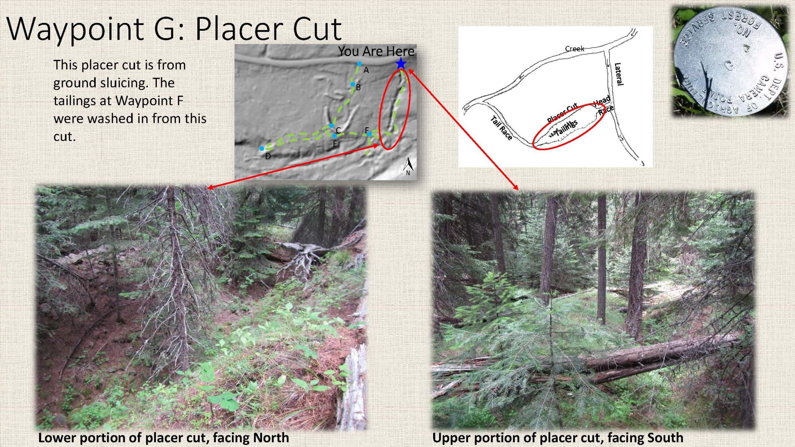 Waypoint G: Placer Cut