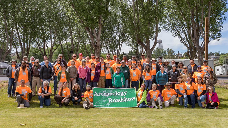 The Harney County Oregon Archaeology Roadshow group