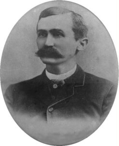 Old tin type photo of Peter French