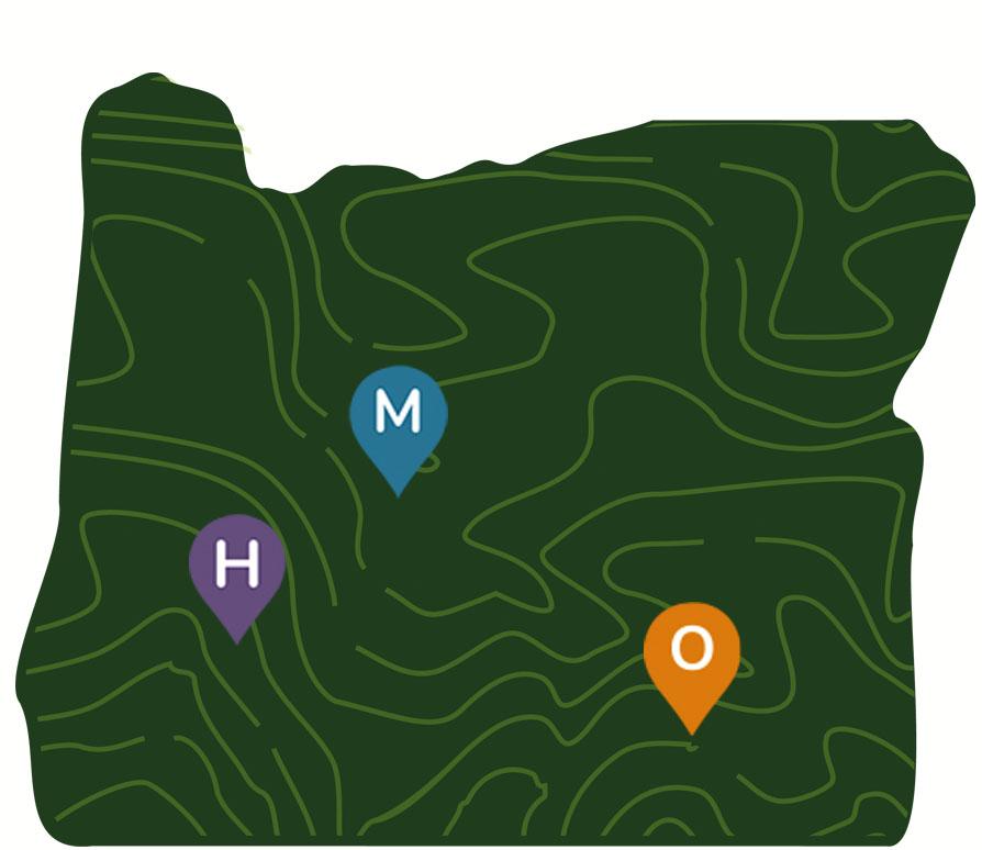 Oregon archaeology dynamic map